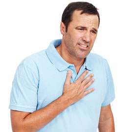 Man with Frequent heartburn